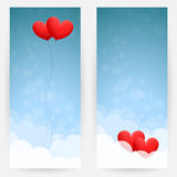 Background with sky and hearts Royalty Free Stock Image