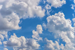 Background sky white clouds Stock Photography