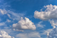 Background sky white clouds Royalty Free Stock Photo
