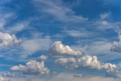 Background sky white clouds Stock Photos