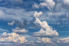 Background sky white clouds Royalty Free Stock Image