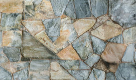 Background of slate stone wall surface Stock Photos