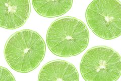 Background of slice green lime Stock Photo