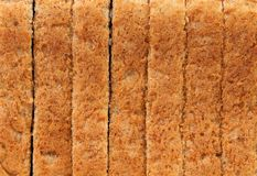 Background of sliced bread. Close up. Royalty Free Stock Images