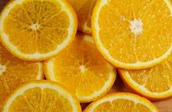 Background of sliced juicy oranges fruit Royalty Free Stock Photography