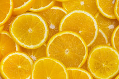 Background of sliced oranges Royalty Free Stock Photography