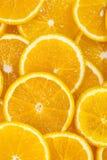 Background of sliced oranges Stock Image
