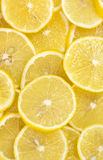Background of sliced ripe lemons Stock Image