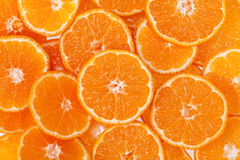 Background of slices of clementine fruit Stock Image