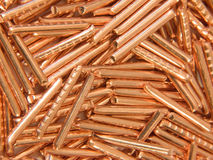 Background from slices of copper. Of high test Stock Images