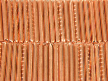Background from slices of copper Royalty Free Stock Photos