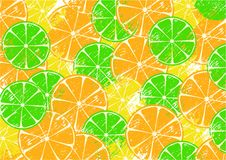 Background with slices of fruits Royalty Free Stock Image