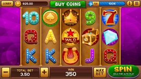 Background for slots game Royalty Free Stock Images