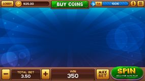 Background for slots games Royalty Free Stock Image