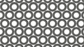Background with small ball bearing close-up, on white background. stock images
