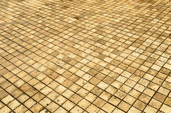 Background of small brick floor Royalty Free Stock Image