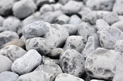 Background of small gray rocks Royalty Free Stock Photography