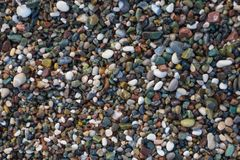 Background of small pebbles royalty free stock image
