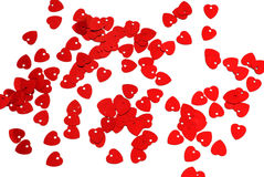 Background of small red hearts Royalty Free Stock Images
