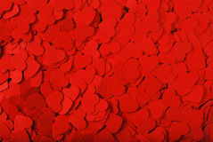 Background of small red hearts Stock Image
