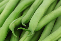 Background of small and slender green beans Royalty Free Stock Photos