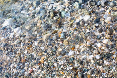 Background  with small stones under water Stock Images