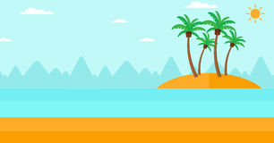 Background of small tropical island. Royalty Free Stock Photos