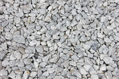 Background of small white and gray rocks Stock Image