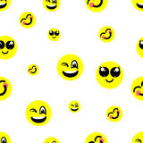 Background with smiles. Illustration seamless background with smiles Stock Image
