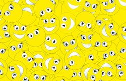 Background of smileys Stock Photo
