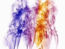 Background with smoke shape, colorful. PHOTO of abstract image, background illustration with design and smoke, to beautify a website. Enriched your website or Stock Image