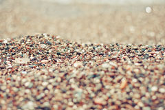 Background of smooth colorful beach stones Stock Photography