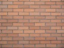 Background-Smooth Orange Brick Wall Stock Image