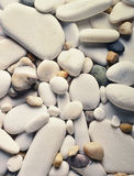 Background of Smooth Rocks. Background of Gray and Polished Stones Stock Images