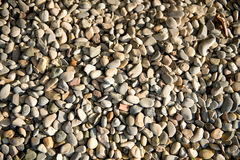 Background of smooth waterworn pebbles Royalty Free Stock Photography