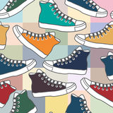 Background with sneakers Stock Image