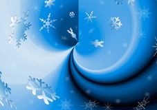 Background snow. Snowflakes Royalty Free Stock Photos