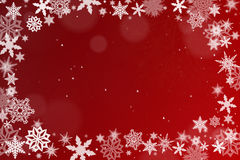 Background with snow crystals Stock Image