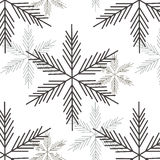 Background with snow Stock Photos