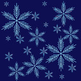 Background with snow Royalty Free Stock Photos