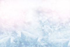 Background of snow. Winter landscape. Stock Photography