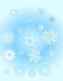 Background with snowflake Royalty Free Stock Photo