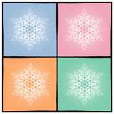 Background snowflake. In several colors Royalty Free Stock Photography