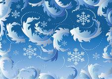 Background with snowflake.Background. Stock Images