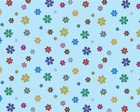 Varicoloured snowflakes on turn blue background Stock Images