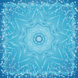 Background  of snowflake,vecto. Background of many white snowflake and one star,vector illustration Stock Image