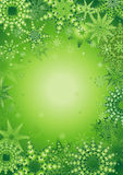 Background of snowflake,vector. Christmas background with many green different snowflakes,vector illustration Stock Image