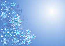 Background Snowflake, vector Royalty Free Stock Photos