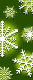 Background of snowflakes Stock Photo