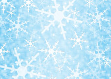 Background with snowflakes Royalty Free Stock Photos
